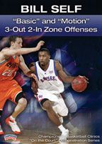 "Bill Self: ""Basic"" and ""Motion"" 3-Out 2-In Zone Offenses"
