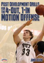 Post Development Drills for the 4-Out, 1-In Motion Offense