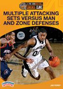 Multiple Attacking Sets Versus Man and Zone Defenses