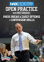 NABC On the Court Open Practice with Matt Driscoll: Press Break & Early Offense + Conversion Drills