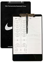 Nike Championship Basketball Clinic Clipboard, Notepad, and Pen - Black