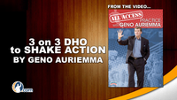 3on3 Dribble Hand Off (DHO) to Shake Action with Geno Auriemma